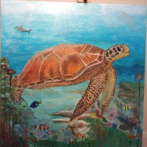 Turtle Picture in Acrylic (2)