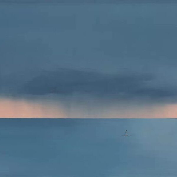 Title: Straw Rain Cape Media: Acrylic on Canvas Size:120cm x 150cm Price: $7,200.00