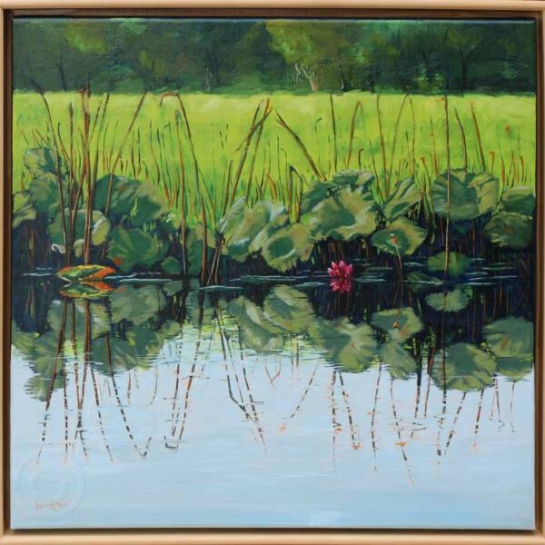 A Time to Reflect by Karen Collins Oil on Canvas $800